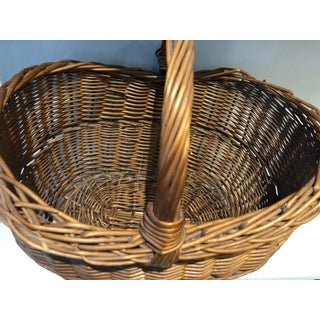 French Antique Wicker Basket Preview