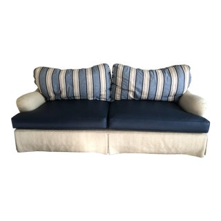 C.R. Laine Striped Nautical Couch For Sale