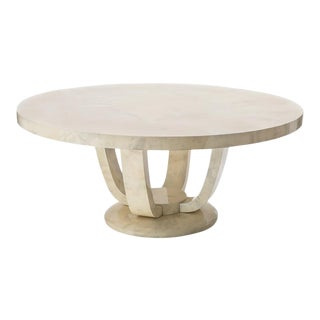 Monumental Goatskin Dining Table, Usa For Sale