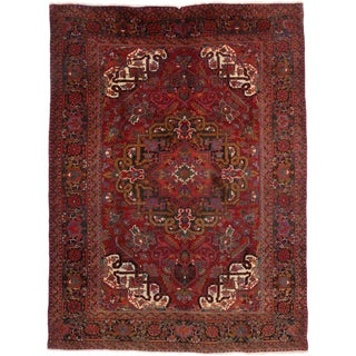 Vintage Persian Heriz Traditional Style Rug - 8′2″ × 11′ For Sale
