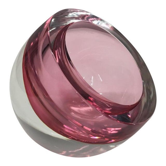 Murano Sommerso Orb Glass Sculpture by Antonio Da Ros For Sale