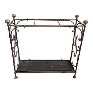 Painted Iron Umbrella Stand For Sale