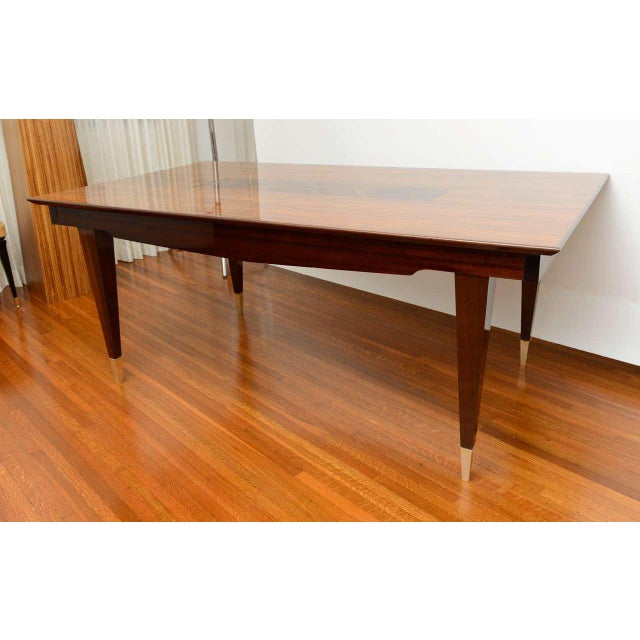 Mid-Century Modern Dining Room Table Lacquered Extension Leaves For Sale - Image 9 of 12