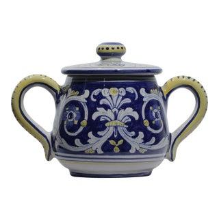 Sugar Bowl, Antico Deruta For Sale