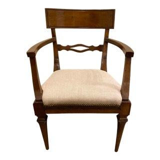 Vintage Mid Century Italian Scoop Back Arm Chair For Sale