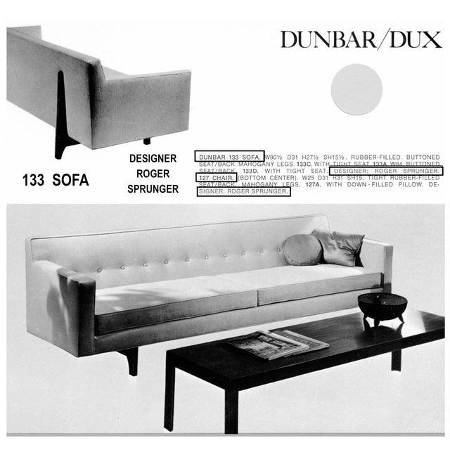 Roger Sprunger for Dunbar Bracket Back Sofa - Image 9 of 9