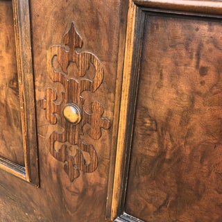 1930s Traditional Hand Carved Wooden Full-Size Headboard Preview