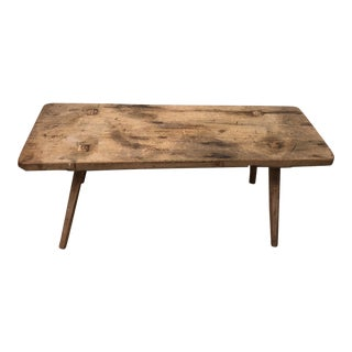Rustic Reclaimed Wood Coffee Table For Sale