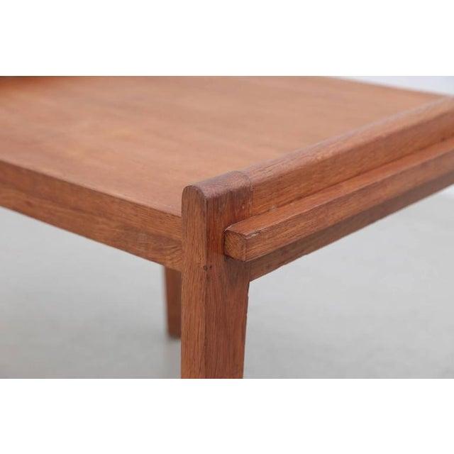 Rene Gabriel Rare Rene Gabriel Side Table in Solid Oak For Sale - Image 4 of 7