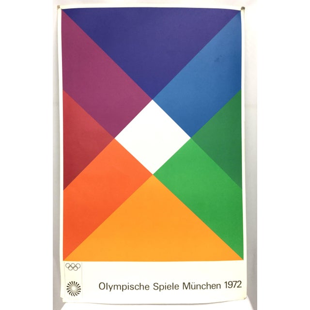Max Bill Signed 1972 Munich Olympic Poster For Sale - Image 11 of 11