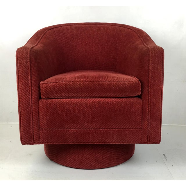 Phenomenal Barrel Swivel Chair By Milo Baughman Theyellowbook Wood Chair Design Ideas Theyellowbookinfo