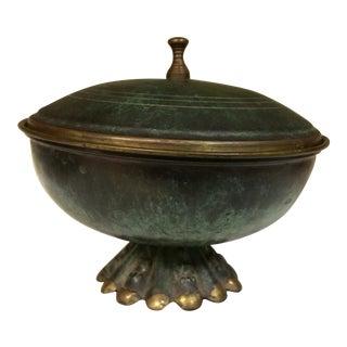 Israeli Enameled Brass Trinket Dish
