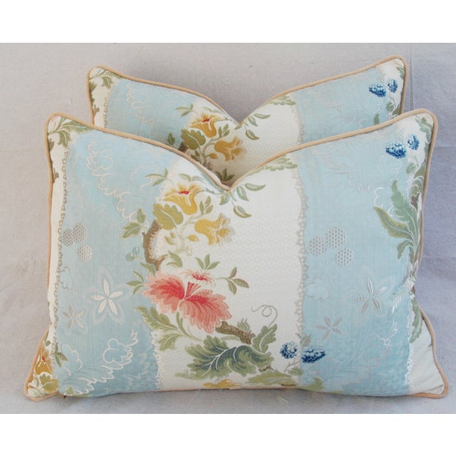 Scalamandre Silk Lampas Pillows - A Pair - Image 2 of 11
