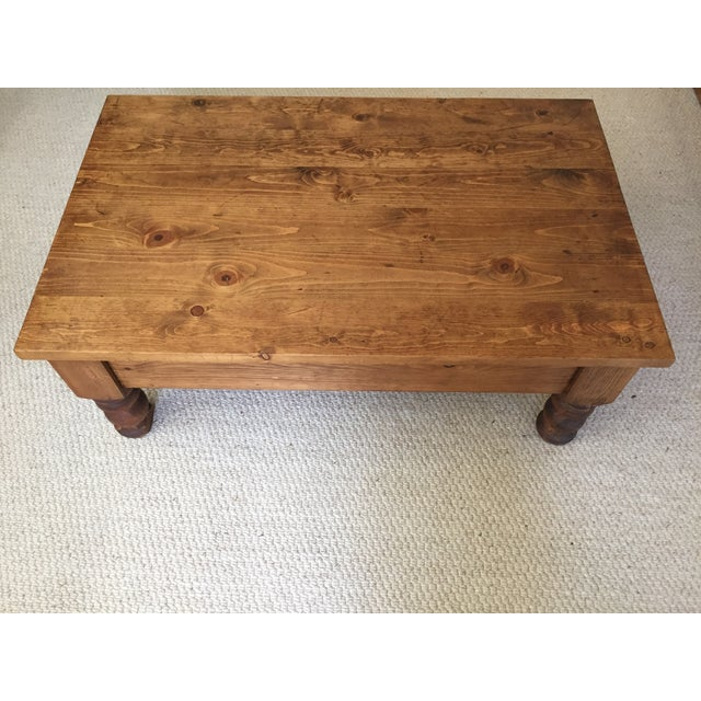 Vintage Bun-Foot Coffee Table For Sale In San Francisco - Image 6 of 11