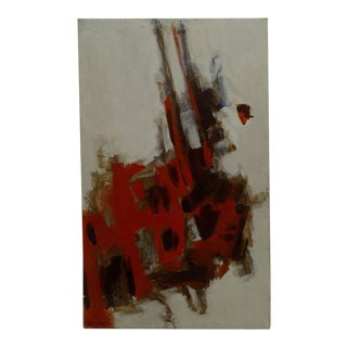 """20th Century Contemporary Original Framed Painting on Canvas, """"Red Explosion"""" by Frederick McDuff"""