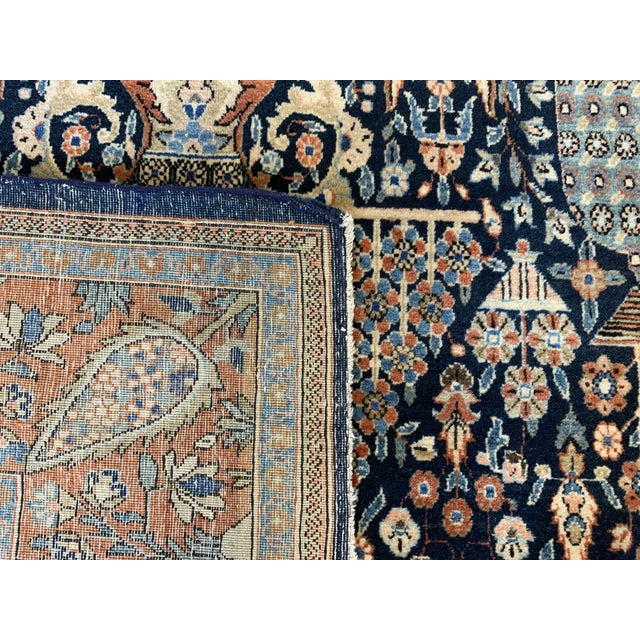 1910s Antique Persian Kashan Rug- 4′ × 6′6″ For Sale - Image 9 of 12