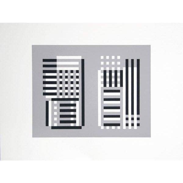 Abstract Expressionism Josef Albers - Portfolio 2, Folder 11, Image 1 Framed Silkscreen For Sale - Image 3 of 4