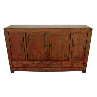 Antique Dongbei Lacquer Finish Sideboard