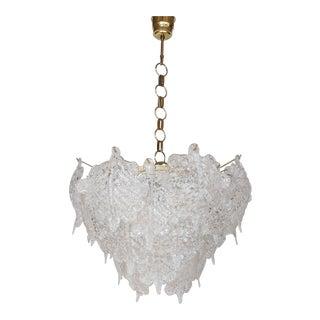 Vintage Mid-Century Modern Murano Glass Chandelier For Sale