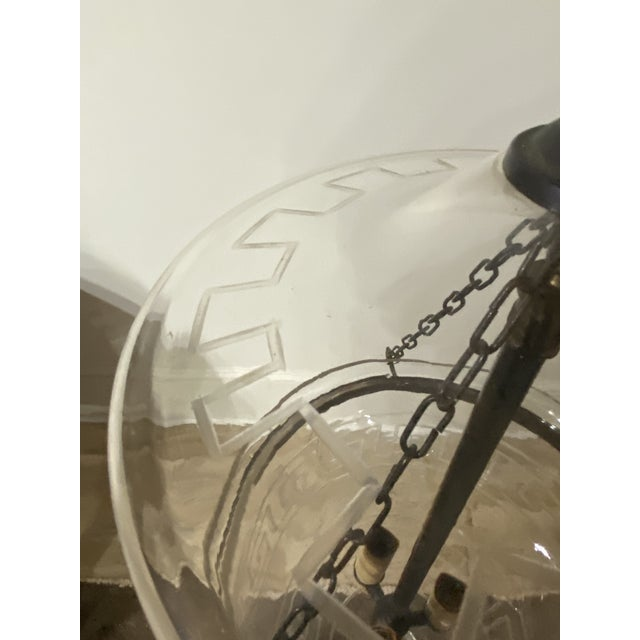 Late 20th Century Vintage Smoking Bell Lantern With Greek Key For Sale - Image 5 of 12