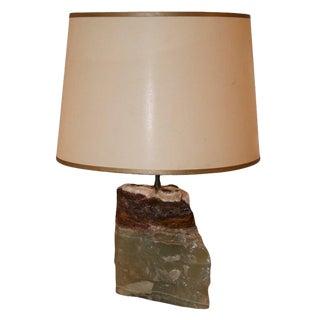 Onyx Block Lamp For Sale