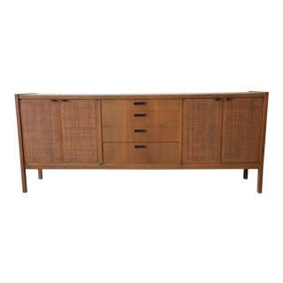 Mid-Century Modern Woven Front Credenza by Founders For Sale