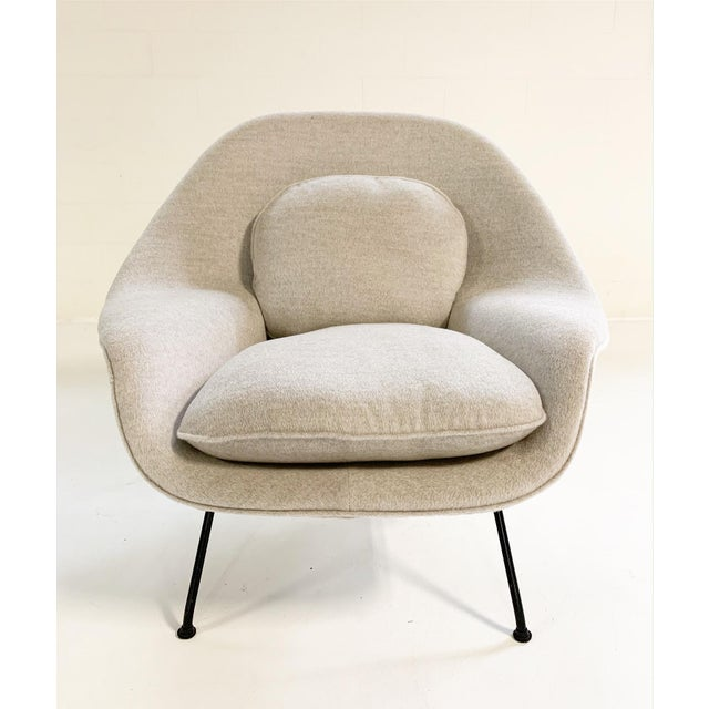 Light Gray Eero Saarinen Womb Chair in Loro Piana Alpaca Wool For Sale - Image 8 of 13