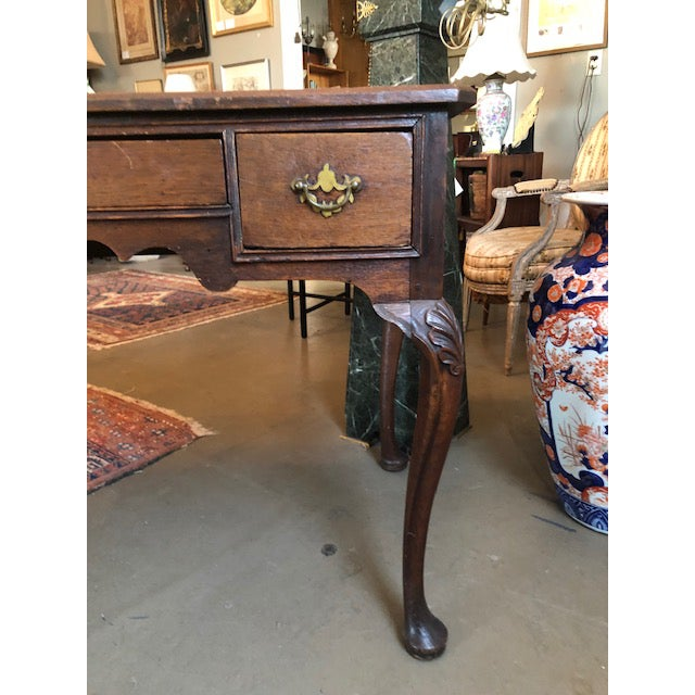 1900 Louis XV Style French Country Oak Writing Desk For Sale - Image 4 of 13