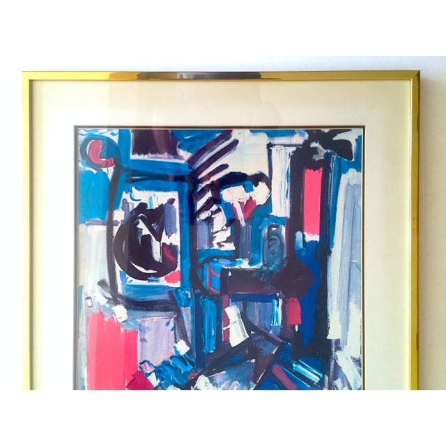 """This Hans Hofmann rare vintage 1968 Mid Century Modern Abstract Expressionist framed collector's lithograph print """"..."""