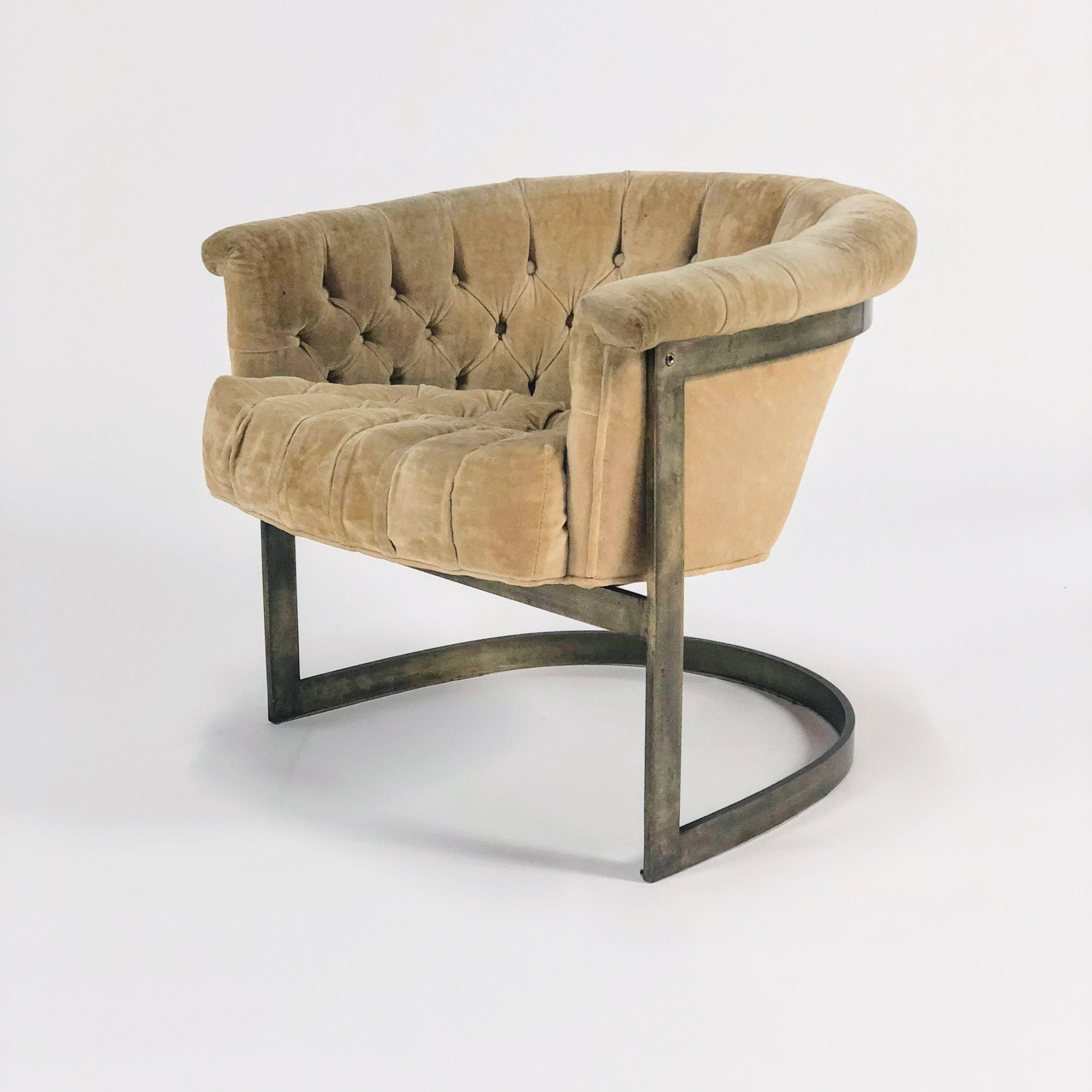 John Stuart Mid Century Tufted Lounge Chairs   A Pair   Image 3 Of 7