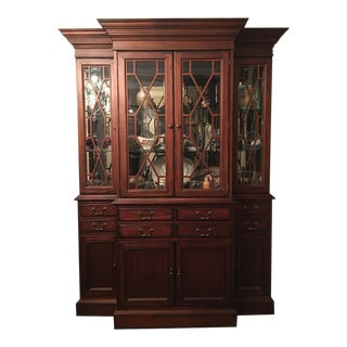 1950s Traditional Drexel Heritage Collectors Mahogany China Cabinet For Sale