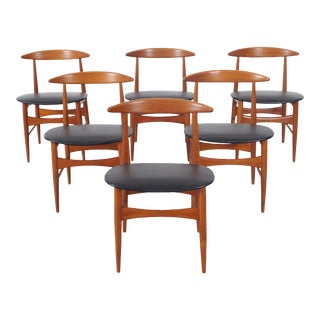 Danish Teak Dining Chairs by Mogens Kold - Set of 6 For Sale
