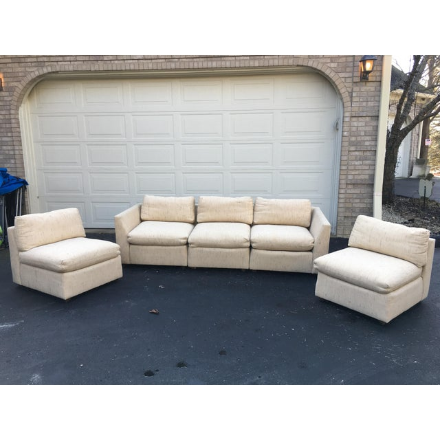 1980s Vintage Dansen 5pc Sectional Sofa For Sale - Image 4 of 13