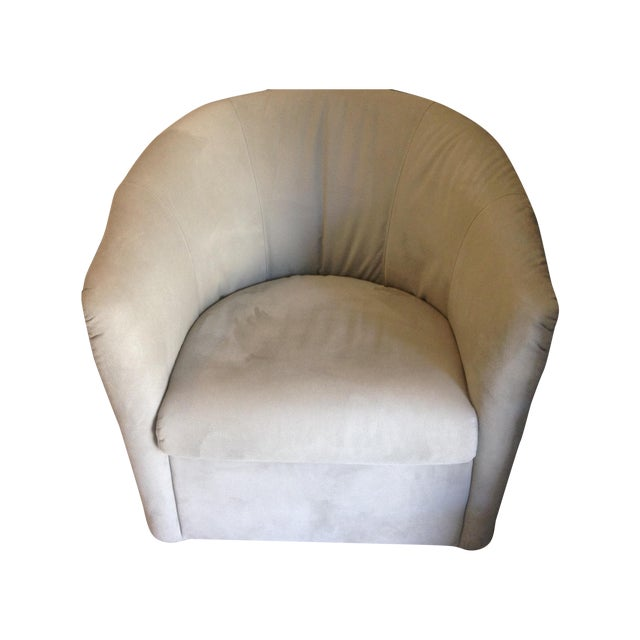 Contemporary Swivel Bucket Chairs - A Pair - Image 1 of 6
