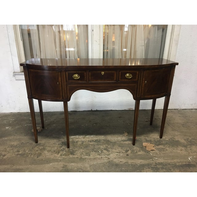 "Drexel ""18th Century"" Mahogany Sideboard Buffet For Sale - Image 9 of 9"