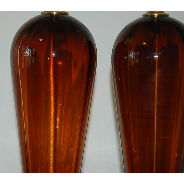 Vintage Italian Glass Teardrop Table Lamps For Sale - Image 9 of 9