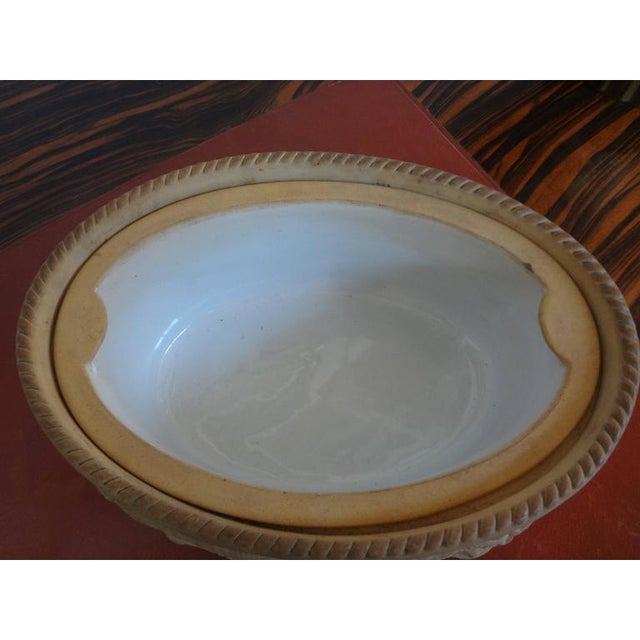 Orange Antique French Caneware Game Pie Dish For Sale - Image 8 of 11