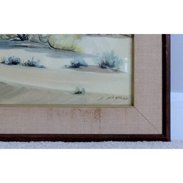 Green Evelyn E. McGinnis Mid-Century Watercolor Paintings - A Pair For Sale - Image 8 of 11
