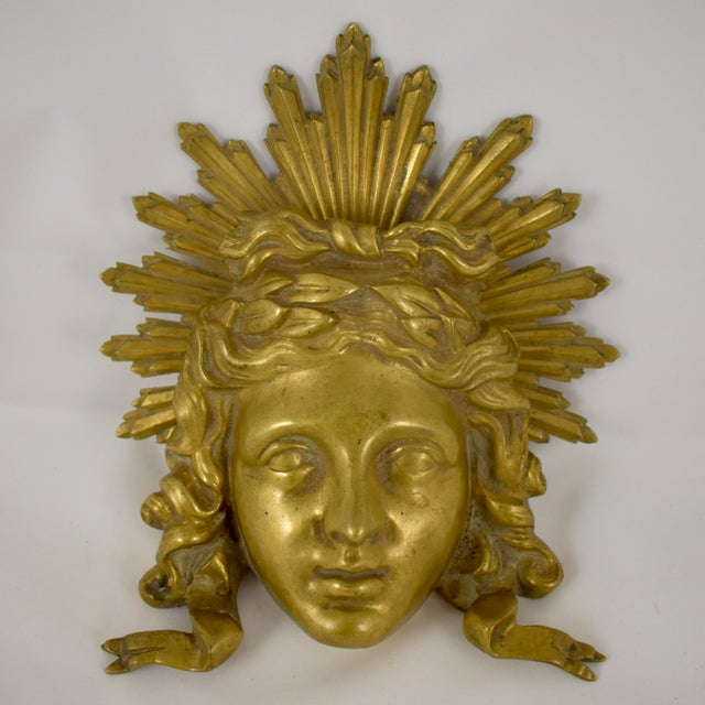 French Ormolu Louis XVI Fragment, The Sun King Head For Sale - Image 11 of 11