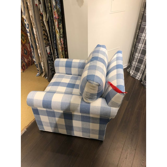 Transitional 21st Century Scalamandre Swivel Chair For Sale - Image 3 of 8