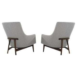 Jens Risom A-Line Lounge Chairs, Model #2136 For Sale