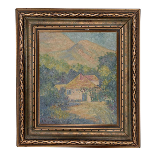 """George Gardner Symons (1863-1930) """"Yonkers, Ny"""" Original Oil Painting C.1890s For Sale"""