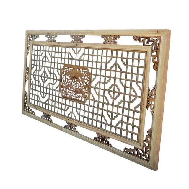 Geometric Lotus Ducks Wood Wall Decor For Sale - Image 4 of 6