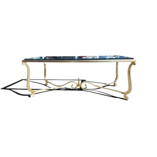 1960s Hollywood Regency Brass Coffee Table For Sale