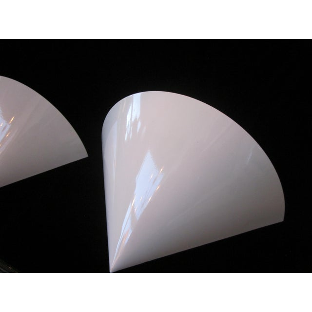 1970s Vintage French Postmodern Curved Triangular Wall Sconces by Amilux Luminaires-a Pair For Sale - Image 10 of 12