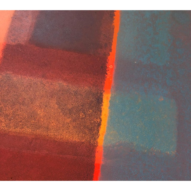Paper 1980s Vintage Mariko Nutt Abstract Monoprint For Sale - Image 7 of 9