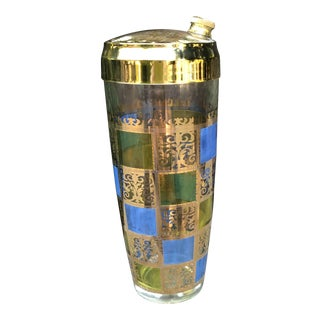 Culver Ltd. Gold Riviera Pattern Cocktail Shaker