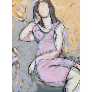 Seated Woman With Flowers II For Sale