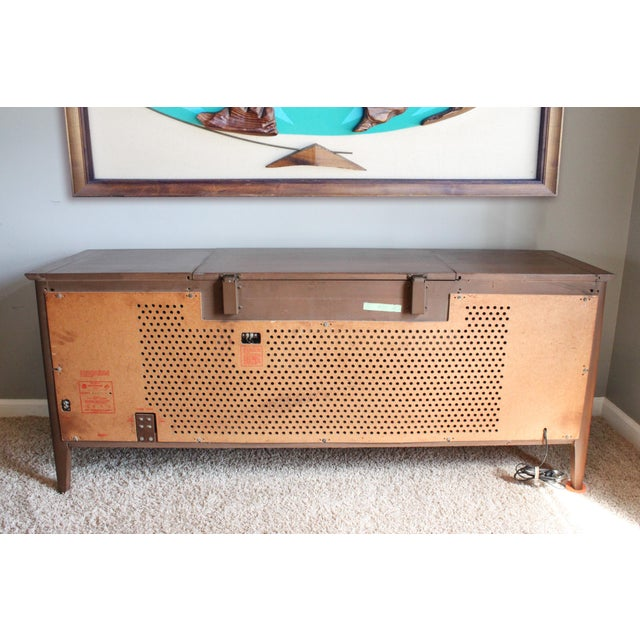 1960's Vintage RCA Victor Victrola Record Player Console Credenza Stereo