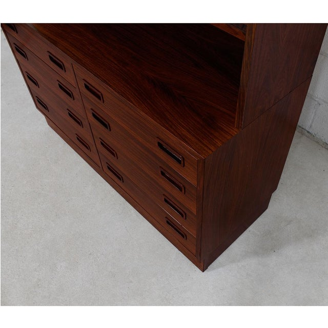 Danish Rosewood Bookcase / Display Cabinet For Sale In Washington DC - Image 6 of 8